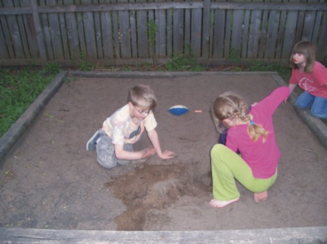 Back-yard-sandbox